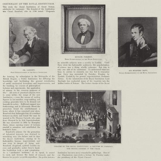Centenary of the Royal Institution--Giclee Print
