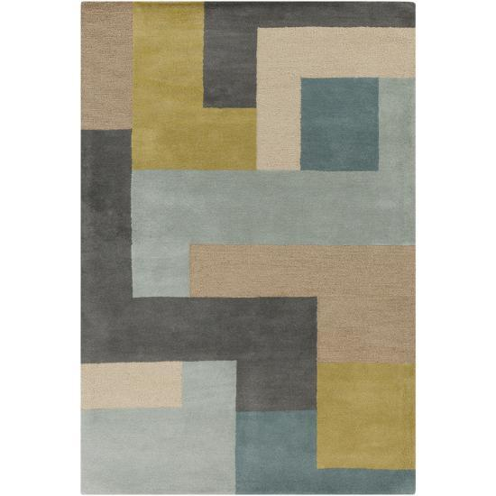 Centennial Area Rug - Teal/Olive 5' x 8'--Home Accessories