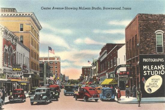 Center Avenue, Brownwood--Art Print