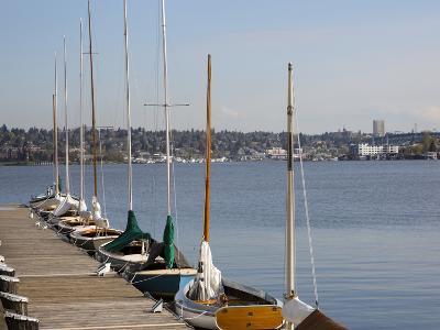 Center for Wooden Boats, Lake Union, Seattle, Washington, USA-Jamie & Judy Wild-Photographic Print
