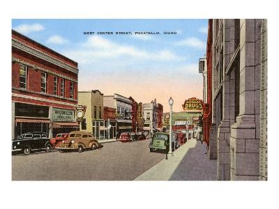 Center Street, Pocatello, Idaho--Art Print