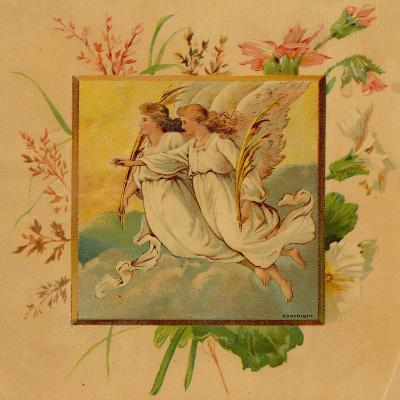 Center Warshaw Collection of Business Americana Series: Christmas Angels--Art Print