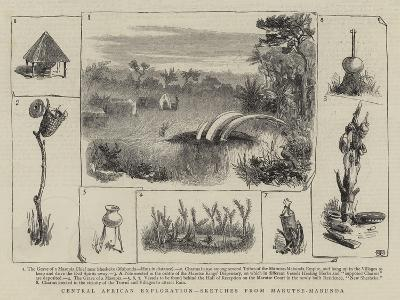 Central African Exploration, Sketches from Marutse-Mabunda--Giclee Print