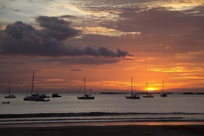 Central America, Nicaragua. Sunset at San Juan Del Sur Harbor-Kymri Wilt-Photographic Print