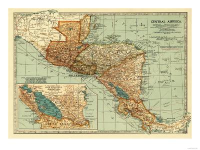 Central America - Panoramic Map-Lantern Press-Art Print