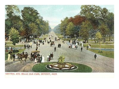 Central Avenue, Belle Isle, Detroit, Michigan--Art Print