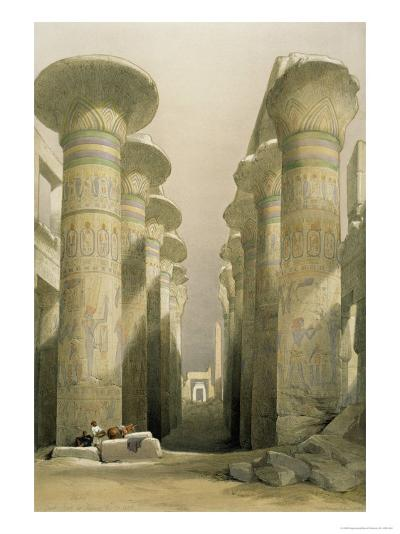 Central Avenue of the Great Hall of Columns-David Roberts-Giclee Print