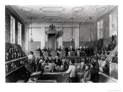 Central Criminal Court, the Old Bailey, Engraved by H. Melville-Thomas Hosmer Shepherd-Giclee Print