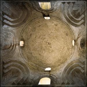 Central Dome, Interior of Church of San Giovanni Degli Eremiti, Palermo, Sicily, Italy
