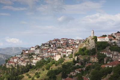 Central Greece, Arahova, Town View Near Mt. Parnassos-Walter Bibikow-Photographic Print
