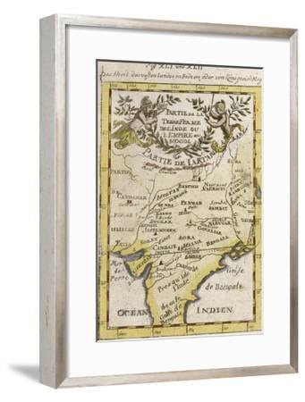 Central India Parts of Pakistan and Bangladesh and the Sources of Two Great Rivers--Framed Giclee Print