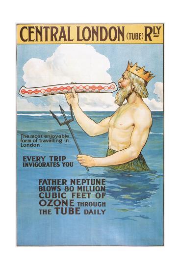 Central London Underground Railway - the Tube Vintage Poster-Lantern Press-Art Print