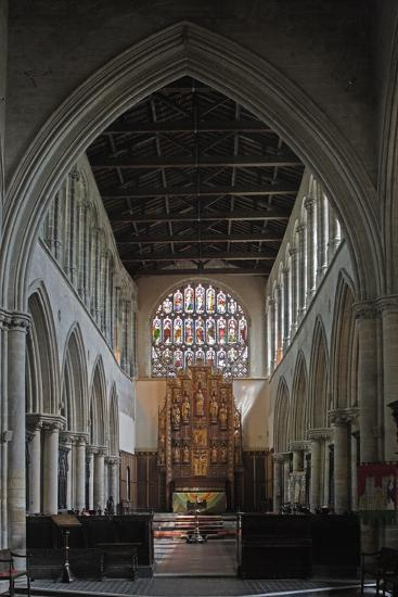 Central Nave and Altar of St Margaret's Church, King's Lynn, Norfolk, United Kingdom--Photographic Print