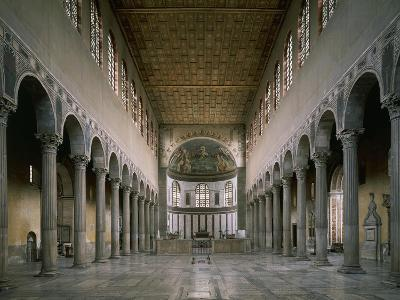 Central Nave and Apse, Basilica of St. Sabine, Rome, Italy, 5th Century--Giclee Print