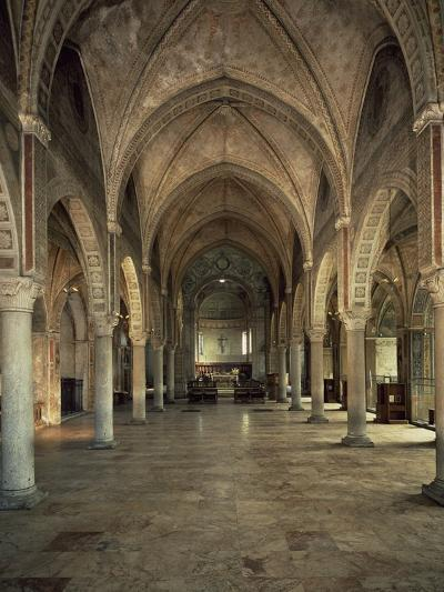 Central Nave Facing the High Altar, Church of Saint Mary Gracious--Photographic Print