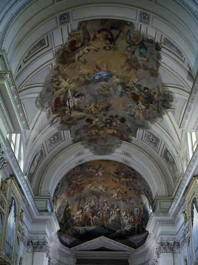 Central Nave Frescoed Vault, Palermo Cathedral, Sicily, Italy--Giclee Print