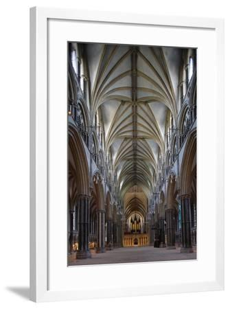 Central Nave of Lincoln Cathedral--Framed Photographic Print