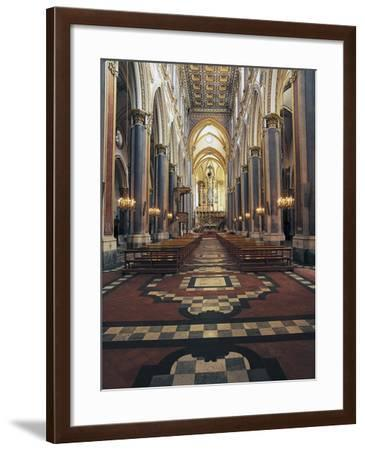 Central Nave of the Church of St Dominic Major, Naples, Campania, Italy--Framed Photographic Print