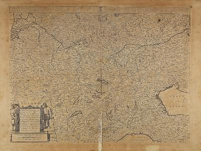 Central-Northern Europe and Northern Italy, Map by Frederik De Wit, Amsterdam--Giclee Print