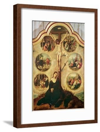 Central Panel of a Triptych Depicting the Seven Sorrows of the Virgin, c.1520-35-Bernard van Orley-Framed Giclee Print