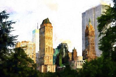 Central Park Buildings II-Philippe Hugonnard-Giclee Print