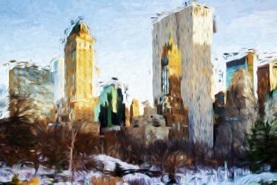 Central Park Buildings - In the Style of Oil Painting-Philippe Hugonnard-Giclee Print