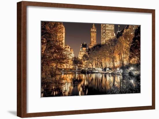 Central Park Glow-Assaf Frank-Framed Giclee Print