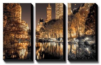 Central Park Glow-Assaf Frank-Canvas Art Set