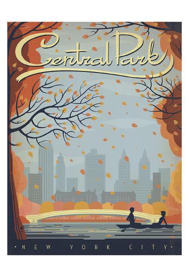 Central Park: New York City-Anderson Design Group-Art Print