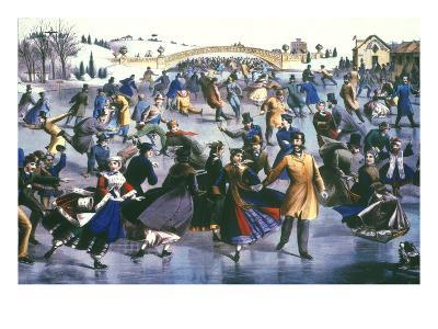 Central Park, Nyc, 1862-Currier & Ives-Giclee Print