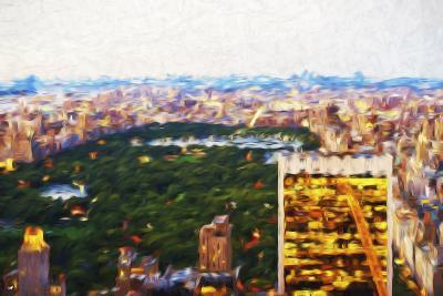Central Park Scape - In the Style of Oil Painting-Philippe Hugonnard-Giclee Print