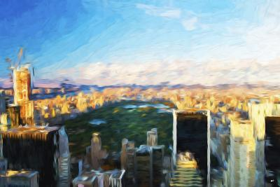 Central Park Skyline - In the Style of Oil Painting-Philippe Hugonnard-Giclee Print