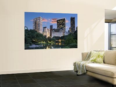 Central Park South at Night-Jean-pierre Lescourret-Wall Mural