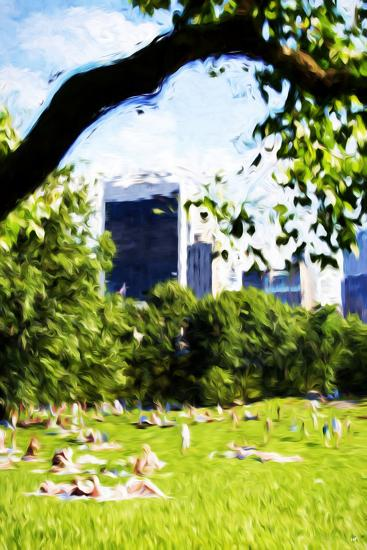 Central Park Summer IV- In the Style of Oil Painting-Philippe Hugonnard-Giclee Print