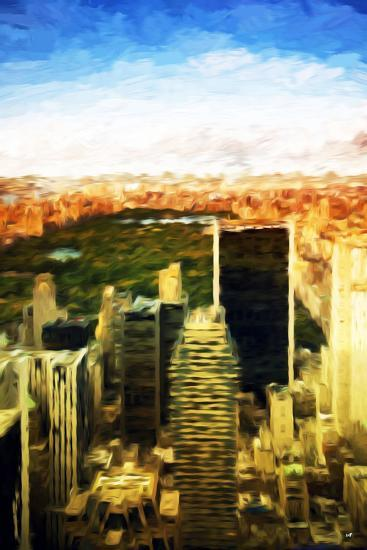 Central Park Sunset - In the Style of Oil Painting-Philippe Hugonnard-Giclee Print