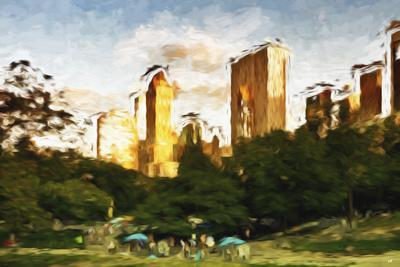 Central Park Sunset IV - In the Style of Oil Painting-Philippe Hugonnard-Giclee Print
