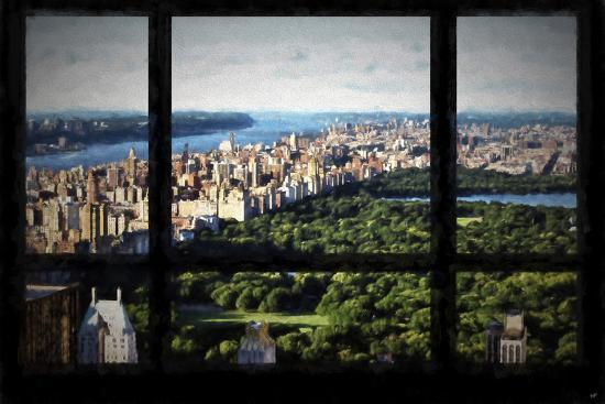 Central Park View From The Window Giclee Print Philippe Hugonnard Art Com