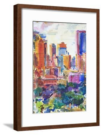 Central Park West, 2011-Peter Graham-Framed Giclee Print