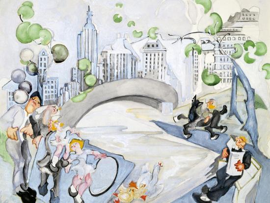 Central Park Art Print Zelda Fitzgerald Art Com