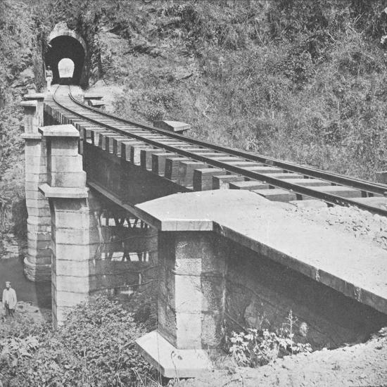 'Central Railway of Brazil: Tunnelling throught the Serra do MAr', 1914-Unknown-Photographic Print