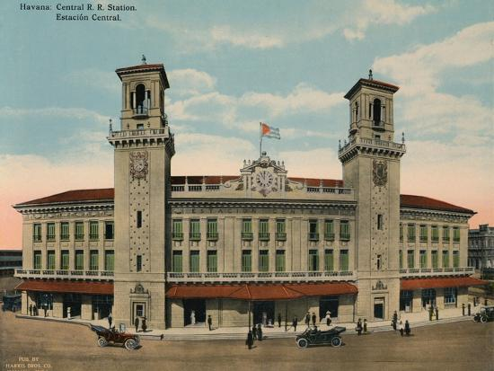 Central Railway Station, Havana, Cuba, c1920-Unknown-Photographic Print