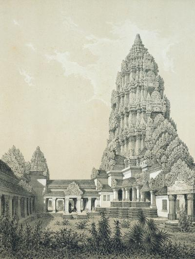 Central Tower and Superior Court of Angkor Wat, 1873-Louis Delaporte-Giclee Print