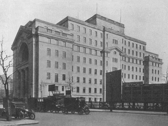 Centre Block of Bush House, London, from Aldwych, 1924-Unknown-Photographic Print
