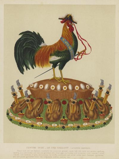 Centre Dish - Le Coq Gallant--Giclee Print