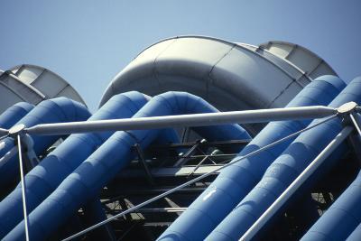 Centre Georges Pompidou, Beaubourg, Paris (1977)-David Churchill-Photographic Print