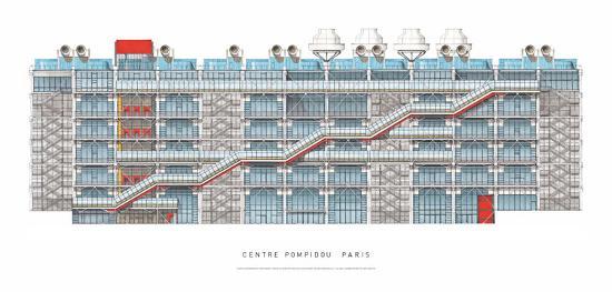Centre Georges Pompidou, Paris-Renzo Piano-Art Print