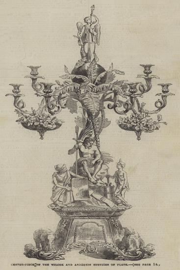 Centre-Piece of the Wilcox and Anderson Services of Plate--Giclee Print