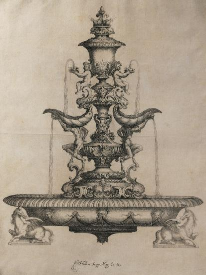 Centrepiece in the Form of a Fountain-Horace Scoppa-Giclee Print