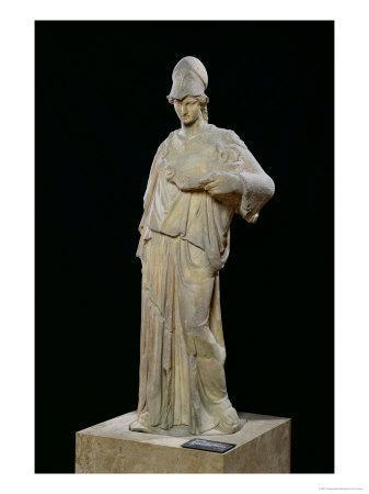 Athena with a Cist, Roman Copy of a 4th Century BC Original