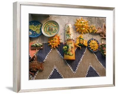 Ceramic Souvenirs, Erice, Sicily, Italy-Walter Bibikow-Framed Photographic Print
